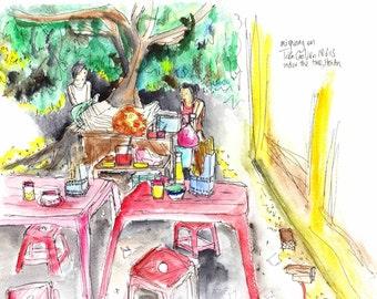 Mi Quang Stall, Print