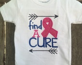 Boy's Find a Cure for Breast Cancer Shirt