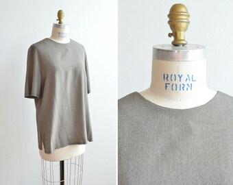 SALE / Vintage 1990s minimalist viscose blouse