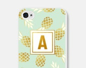Monogram iPhone 6 Case iPhone 6s Case Gift Personalized Womens Personalized Teen Girlfriend Samsung Galaxy S6 Case Pineapple iPhone 5 Case