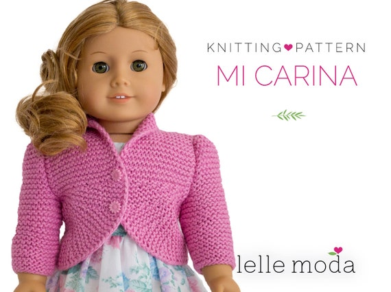 American Girl Doll Cardigan Knitting Pattern : Knitting Patternfits American Girl DollDoll Summer by LelleModa