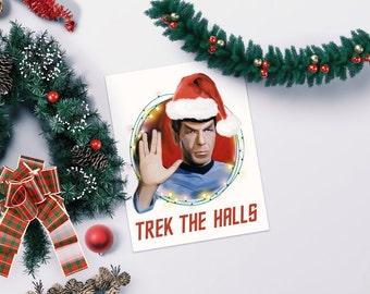 Star Trek Christmas Card - holiday Spock