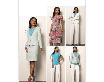 Sz 14/16/18/20/22 - Vogue Separates Pattern V8963 - Misses' Jacket, Top, Dress, Skirt and Pants - Vogue Wardrobe Pattern