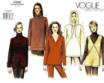 Sz 14/16/18 Vogue Top Pattern 2506 - Misses' Top in Five Variations - Vogue Basic Design