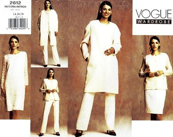 SZ 14/16/18 Vogue Separates Pattern 2612 - Misses' Jacket, Vest, Dress, Top, Skirt & Pants - Five Easy Pieces
