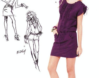 Simplicity Dress  Pattern 0348 - Misses' One-Piece Dress or Romper - Suede Says - Sz 4/6/8/10/12