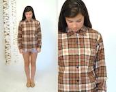 60s PENDLETON Shirt  //  Womens Wool Shirt  //  THE LUMBERJILL