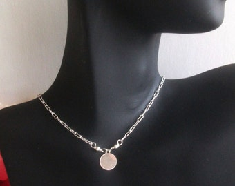 Silver coin necklace - disc necklace - 925 sterling silver necklace - sterling silver necklace - dainty silver jewelry
