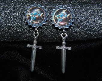 World of Warcraft (WoW) inspired Priest earrings - FREE DOMESTIC SHIPPING