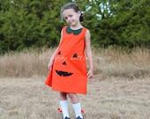 Sale.Halloween Dress for Girls. Pumpkin Dress. Size 6.