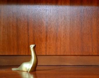 SALE vintage brass seal figurine