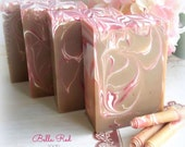 BELLA RED Soap with goat milk, and silk - BBW type - handmade by Bonny Bubbles