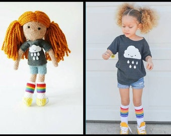 Unique Doll - Custom Crocheted Doll - Designed To Look Like Your Child - One Of A Kind - 100% Wool Doll - Waldorf Inspired Personalized Doll