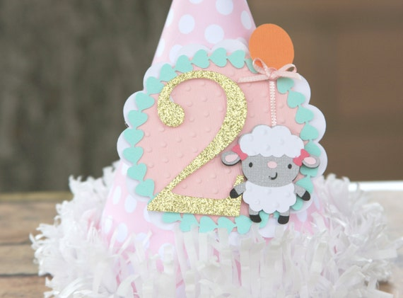 farm party hat lamb party hat smash cake party hat girl party hat