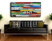 Painting WALL ART,  Painting - Abstract Art by Erin Ashley Colorful large canvas Painting