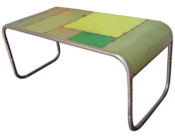 Coffee Table Made from Reclaimed Steel, locally sourced