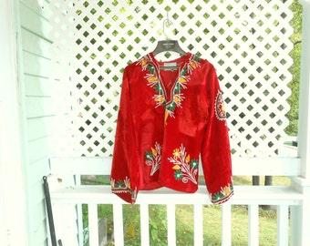 India Shirt Embroidered India Fabric Womens Vintage Shirts Boho Shirt 70s Shirt Hippie Shirt Velvet Shirt Hooded Shirt