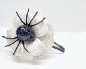 Spider Webbed Daisy Paper Mache Headband