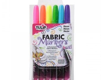 Color Me Fabric Markers -Tulip - Neon 6 Colors
