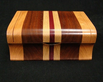 Wooden Ring Box, Cherry and Walnut