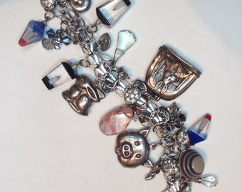 Sterling Charm Bracelet – One of a Kind Art Piece