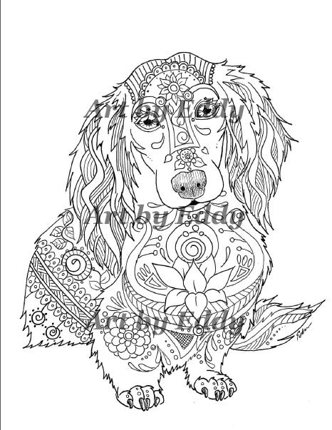 dachshund puppies coloring pages - photo#35