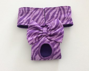 Female Dog Diaper - Panties - Britches - Purple Animal Stripe - Available in all Sizes