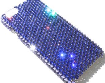 "For iPhone 6 (4.7"") ~ Tanzanite Purple Diamond Rhinestone BLING Back Case handmade using 100% Crystals from Swarovski"