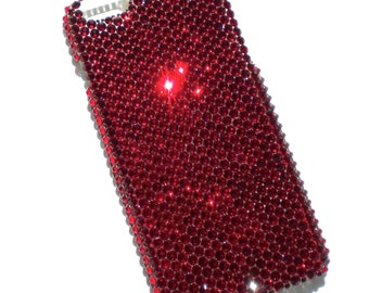 """For NEW iPhone 6S (4.7"""") - Siam - Dark Blood Red - Bedazzled Rhinestone Bling Back Case handmade with 100% Crystals from Swarovski"""