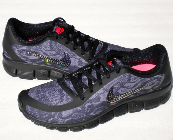 SALE Cool Snakeskin Nike Free Run 5.0 V4 Print by MyBlingThingz durable  service 8379ef62d