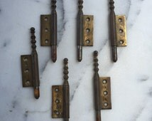 6pc Hinge Wall decor cast cross with patina rust aged latch lock hook gate closer fence panel filigree