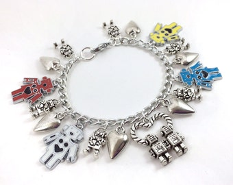 Robots in Love Charm Bracelet