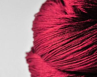 Poisoned blood - Silk Lace Yarn - knotty skein