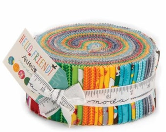 Hello Friend Jelly Roll 2 1/2 Inch Strips from Abi Hall and Moda Fabrics