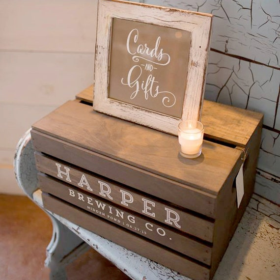 Wedding Gift Post Boxes For Cards: CUSTOM Beer Crate Wedding Card Box Gift Box Wedding Cards