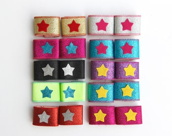 Girls Superhero Accessory Wrist Bands - 21 options - Ships Fast - Lightning Bolt or Star Sparkle Cuffs - Coordinated perfect with our capes