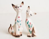 Vintage 50s 60s DAVAR Siamese Kitty Cat Salt & Pepper Shakers