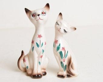 Vintage 50s 60s DAVAR Siamese Kitty Cat Salt & Pepper Shakers