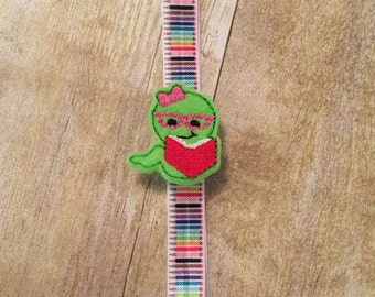Planner Band - Bookworm on Pencil Band