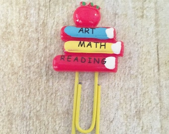 Planner Clip - School Books (Bookmark) Page Marker For Planners, Calendars, Or Books
