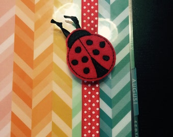 Planner Band - Lady Bug with Red Polka Dot Band