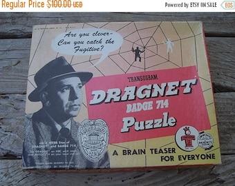 Vintage Dragnet Puzzle game...1955
