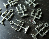Destash (14) Candle Holder Candelabra Charms - for pendants, jewelry making, crafts, scrapbooking