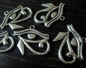 Destash (6) Eye of Horus Ancient Egyptian Charm Pendant - for pendants, jewelry making, crafts, scrapbooking
