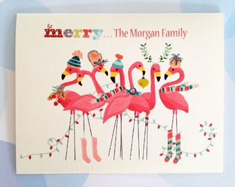 Personalized Christmas Cards, Custom Holiday Card, Set of 10