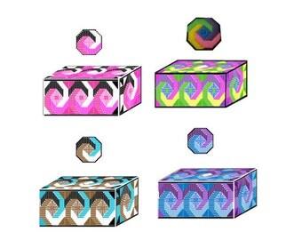 Plastic Canvas Bargello Tissue Covers  Instant Download