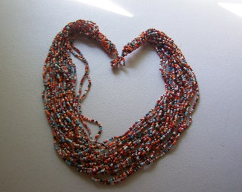 CLEARANCE Hand Crafted Multiple Strand Bib Drape Multicolored Necklace