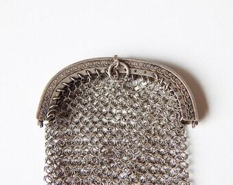 mesh chatelaine purse coin purse