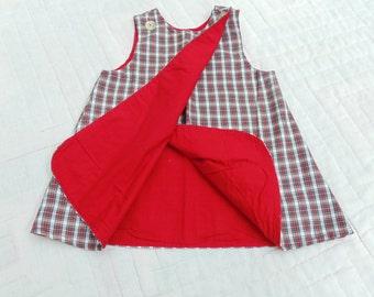 BUSTER BROWN Jumper. Buster Brown Dress. Little GIRLS Jumper. Plaid Jumper. 1970s. Size 2. Photo Shoot. Photo Prop. vintage Wardrobe