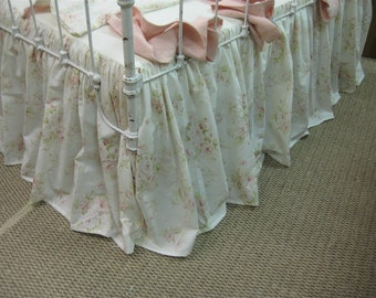 Nursery Bedding Sewing Service-Ruffled Crib Bedding using Your Fabric -Custom Ruffled Nursery Bedding-Labor and  Supplies Only
